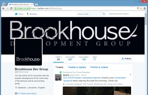 BHDevGroup Twitter Page